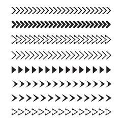 Set of black arrows. Icon Stock Vector.