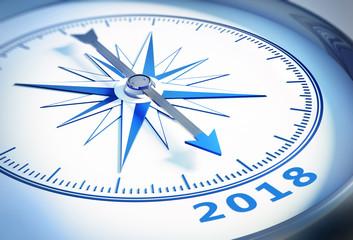 Kompass weiß blau 2018