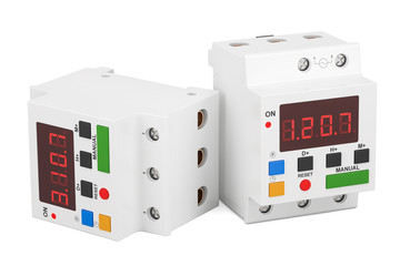 Digital timer switches, 3D rendering