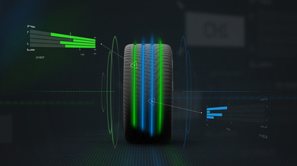 Sports tire concept - 3D illustration