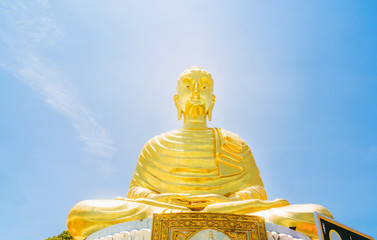 Gautama Buddha golden yellow The Buddhist city.