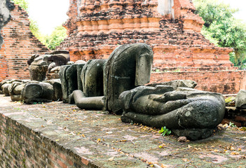 old ruins of Buddhism And the old place.