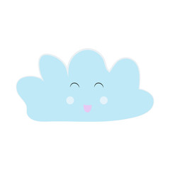 Colorful and smiling cloud isolated on a white background - Eps10 vector graphics and illustration