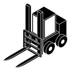 Forklift icon, simple style