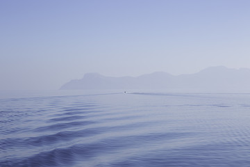 Water waves in a calm sea