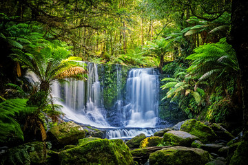 Fotobehang Watervallen The Horseshoe Falls at the Mt Field National Park, Tasmania, Australia
