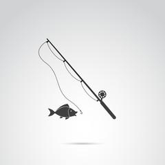Fishing vector icon.