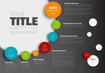 Overlapping Circles Infographic Layout 6