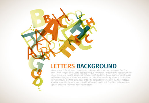Overlapping Letters Card Layout