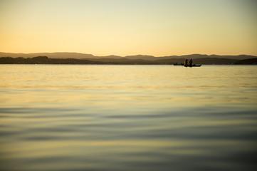 colourful sunset beach in Australia