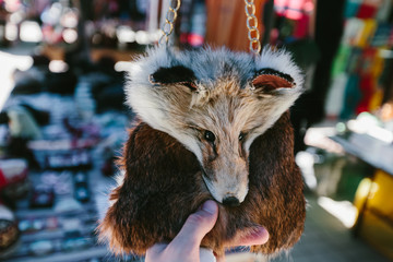 Foxy handbag Flea market Vernissage Yerevan, Armenia
