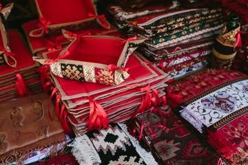 Fabrics Flea market Vernissage Yerevan, Armenia