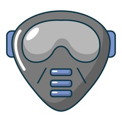 Paintball mask icon, cartoon style