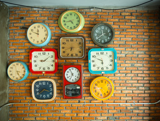 Clocks on the wall