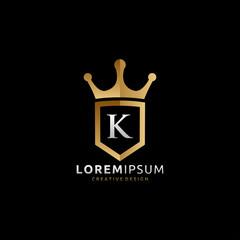 Royal King K Letter Logo
