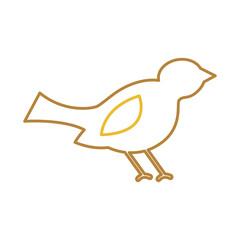 christmas bird animal decoration ornament vector illustration