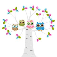 :Owls on a tree