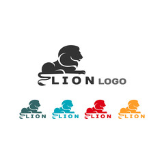 SIMPLE MODERN LION LOGO, isolated