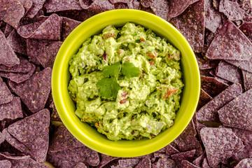 Fresh Homemade Chunky Guacamole Dip