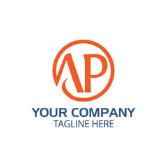 initial letter td linked round, logo orange