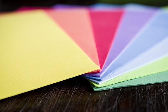 Rainbow colors of foam paper