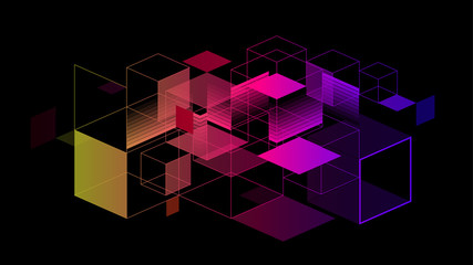 Colorful geometric abstract  background