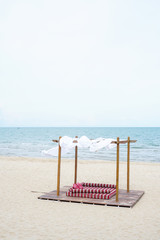 Moroccan beach shelter style
