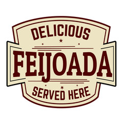 Feijoada sign or stamp