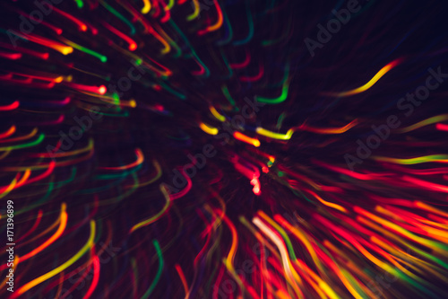 """Rainbow Fireworks Celebration Colorful Abstract Image With: """"Abstract Background Of Colorful Lines In Motion On Black"""