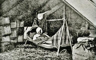 Carl Ethan Akeley (1864 – 1926), pioneering American taxidermist, sculptor, biologist after hunting injury