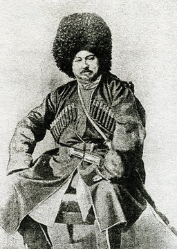 Alexandre Dumas (1802 – 1870) in traditional caucasian male dress (cherkeska) during his trip to Russia