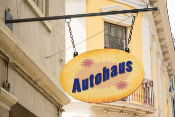 Schild 278 - Autohaus