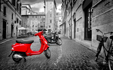 Photo sur Aluminium Scooter Motorbike in Rome