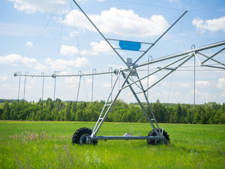 system watering a field