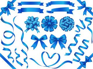 リボン素材セット 青
