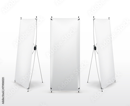 set of x banner stand flip chart for training or promotional