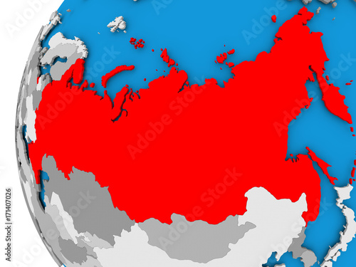 Map of russia on political globe stock photo and royalty free map of russia on political globe gumiabroncs Images
