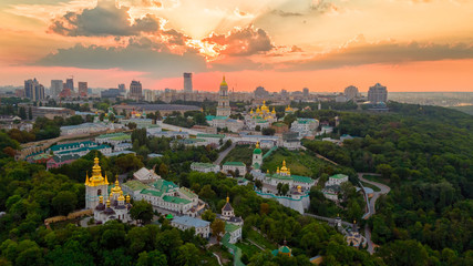 Kyiv Pechersk Lavra at sunset