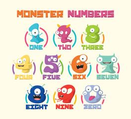 Monster Cartoon numbers