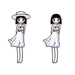 Pixel Art, Girl Cartoon