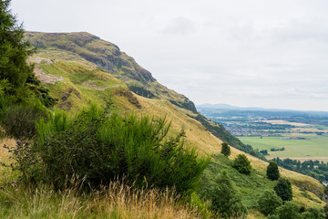 On top of Ochil hills near Blairlogie, Scotland