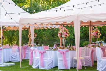 Wedding banquet tents outdoor