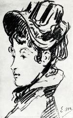 Portrait of Madame Jules Guillemet (Edouard Manet, ca. 1880)