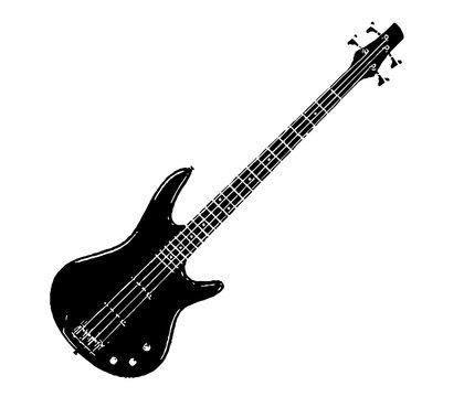 electric bass illustration