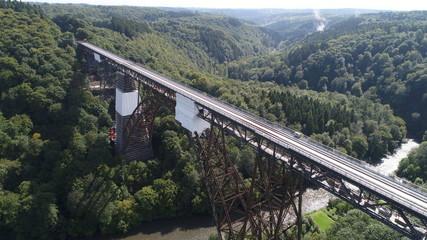 アーチ橋 ドイツ Germany ゾーリンゲン 鉄橋 107m Solingen 19世紀 ミュングステナー橋 橋脚技術
