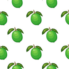 Fresh print with lime. Seamless pattern