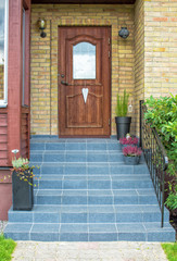Styled entrance to detached house