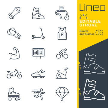Lineo Editable Stroke - Sports and Games line icons Vector Icons - Adjust stroke weight - Expand to any size - Change to any colour