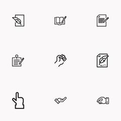 Set of Copy writing icons isolated