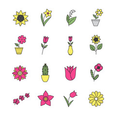 Flowers color icon